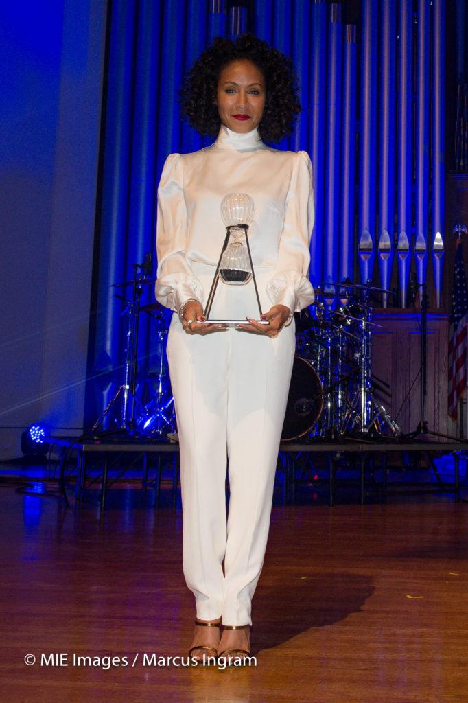Jada Pinkett Smith with award