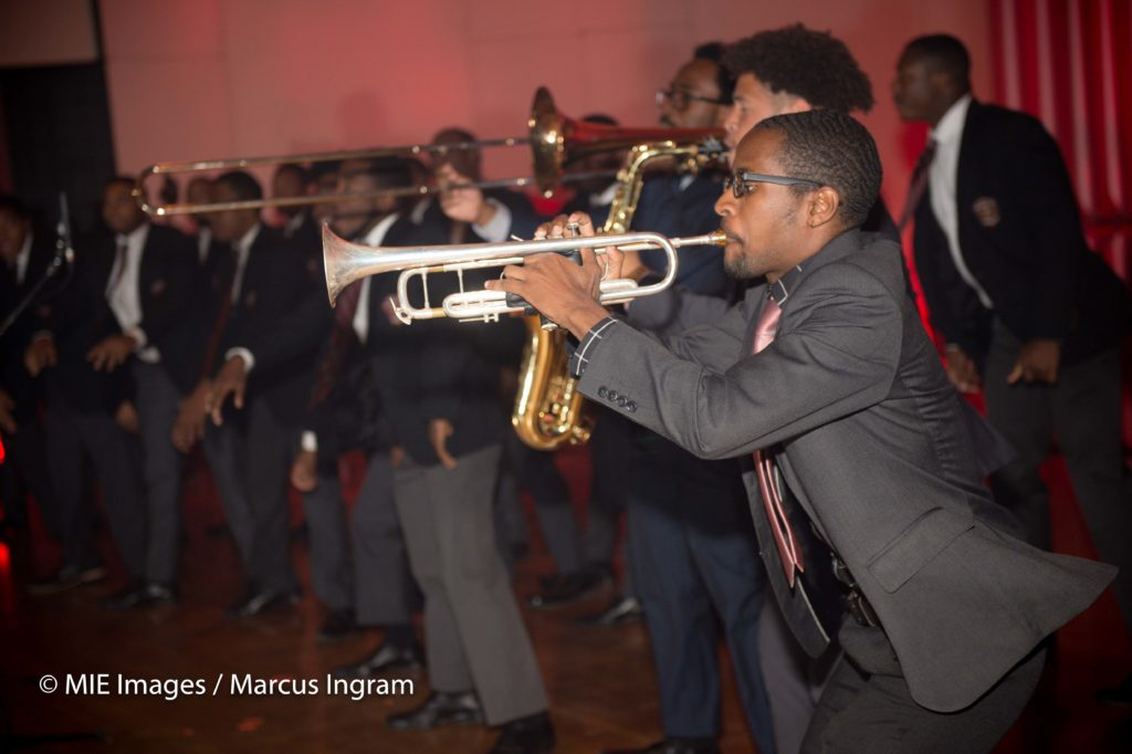 Morehouse Horns section perform Swag Surfin