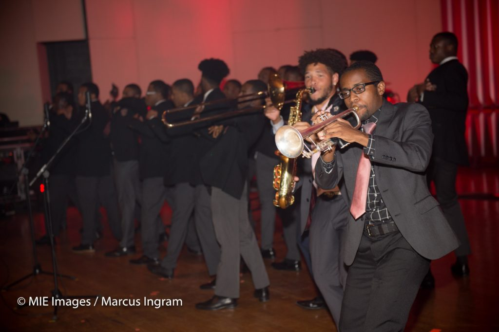 Morehouse Horns section play Swag Surfin2