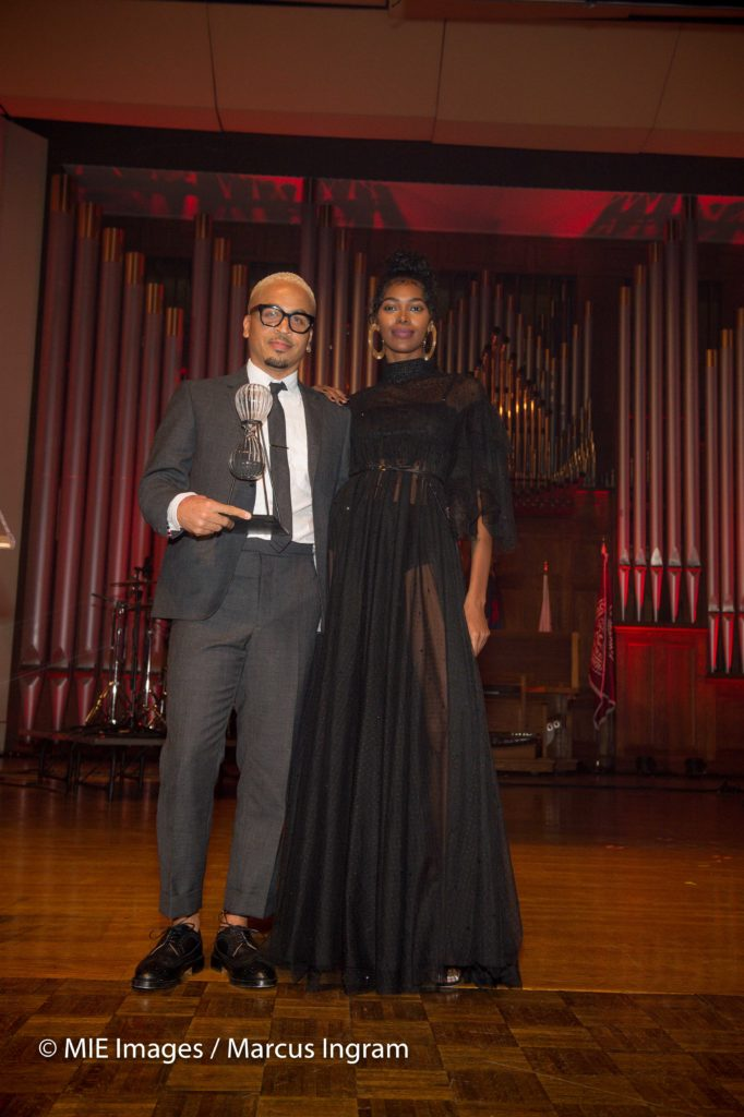 honoree Kyle Hagler and co-host Jessica White