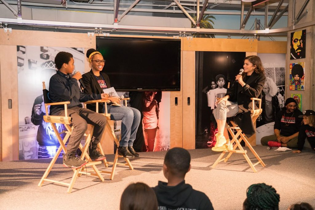 Actress and Oakland-native Zendaya was interviewed by a Roses student and his mother