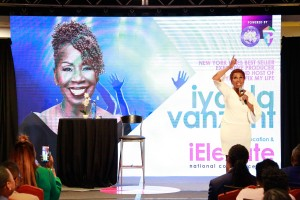 Iyanla Vanzant on stage