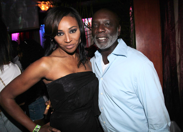 NEW ORLEANS, LA - JULY 02:  TV personality and model Cynthia Bailey (L) and husband Peter Thomas attend the 2011 All White Affair at Generations Hall on July 2, 2011 in New Orleans, Louisiana.  (Photo by Johnny Nunez/WireImage)